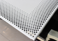 Aluminium Clip In Ceiling Panel Tiles 0.7mm Round Hole Perforation ISO9001