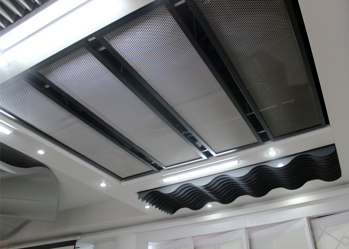 Aluminum or Steel Commercial Ceiling Tiles for Building Interior Decoration , SONCAP